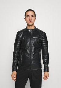 Freaky Nation - SHEEP CHARLY ACTION - Leather jacket - black - 0