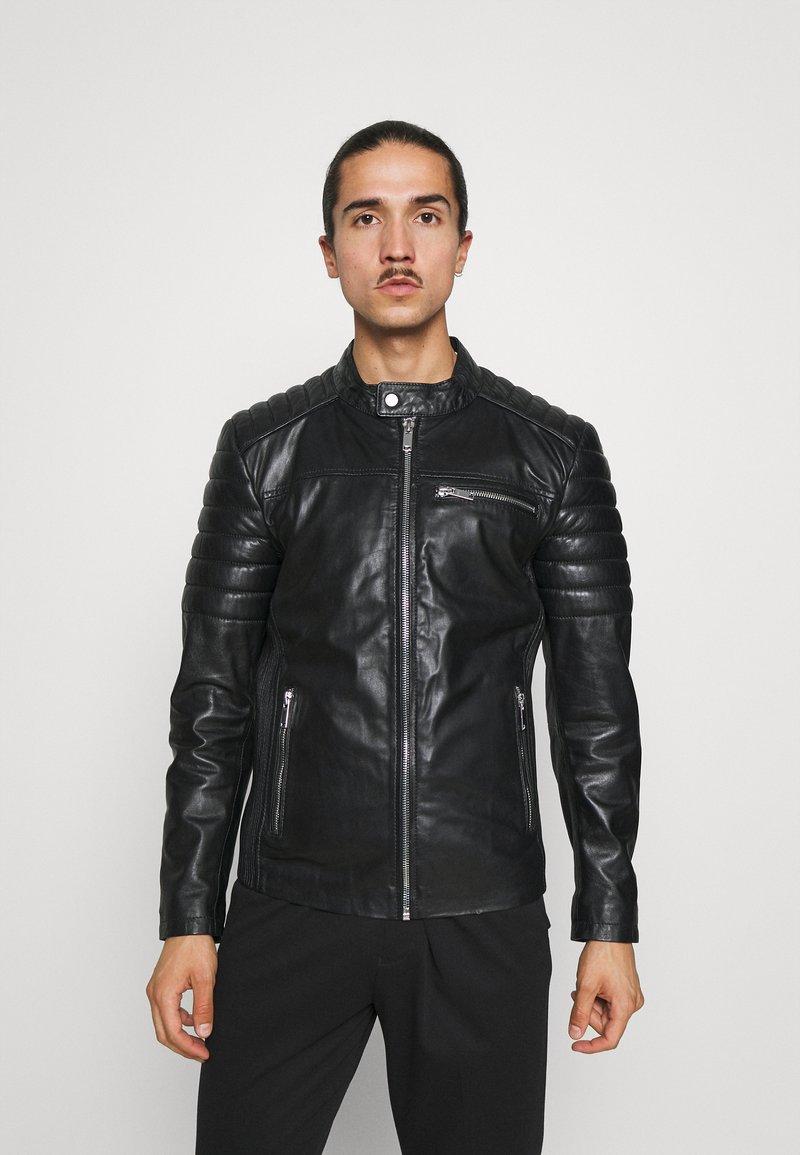 Freaky Nation - SHEEP CHARLY ACTION - Leather jacket - black