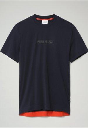 S-OODI - T-shirt med print - blu marine