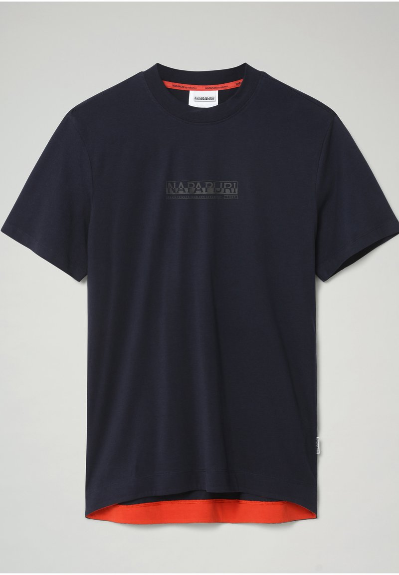 Napapijri - S-OODI - Print T-shirt - blu marine