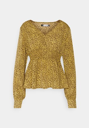 SHIRRED WAIST BLOUSE - Bluser - mustard