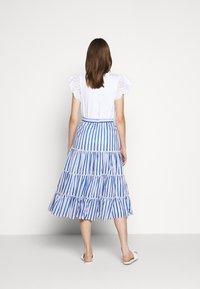 J.CREW - VOILE MIDI - A-line skirt - blue/multi - 2