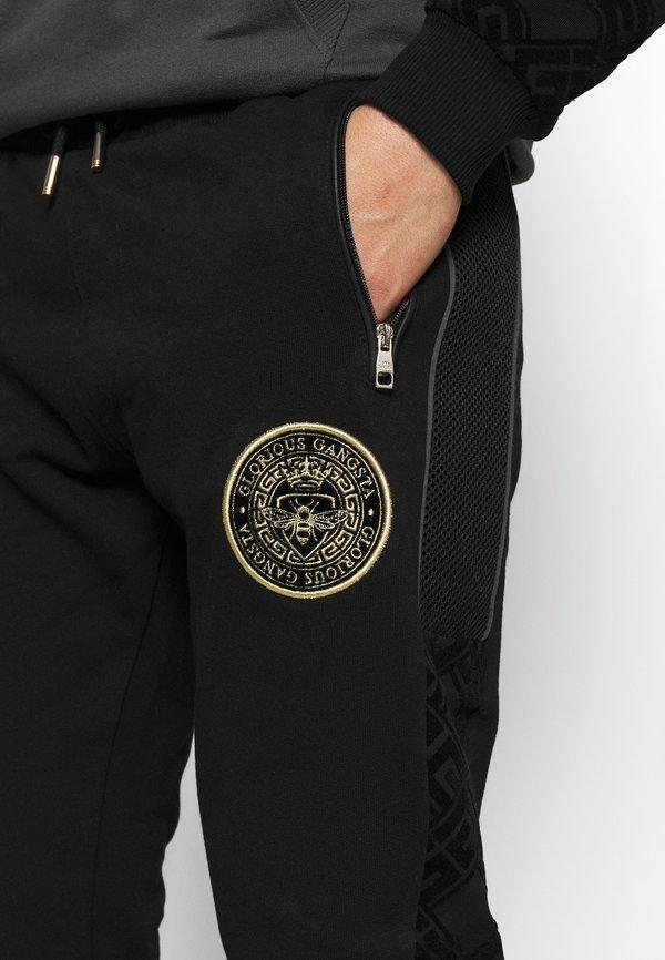 Glorious Gangsta HERVOS JOGGERS - Spodnie treningowe - black/czarny Odzież Męska HXYJ
