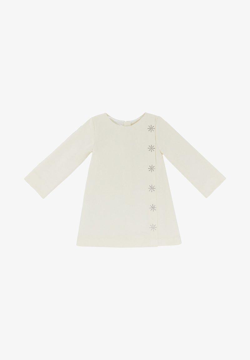 Evika Kids - WITH SNOWFLAKES - Day dress - white