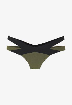 MAZZY BRIEF - Bikini bottoms - black/khaki