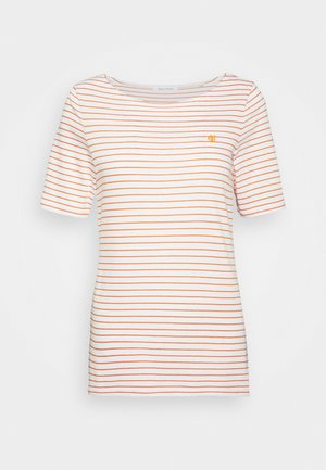 SHORT SLEEVE ROUND NECK - Triko s potiskem - sunbaked orange