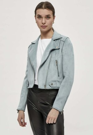 TABARAK - Faux leather jacket - slate blue