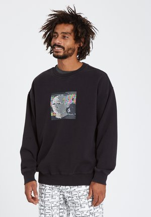 ANIMOSCILLATOR CREW - Sweatshirt - black