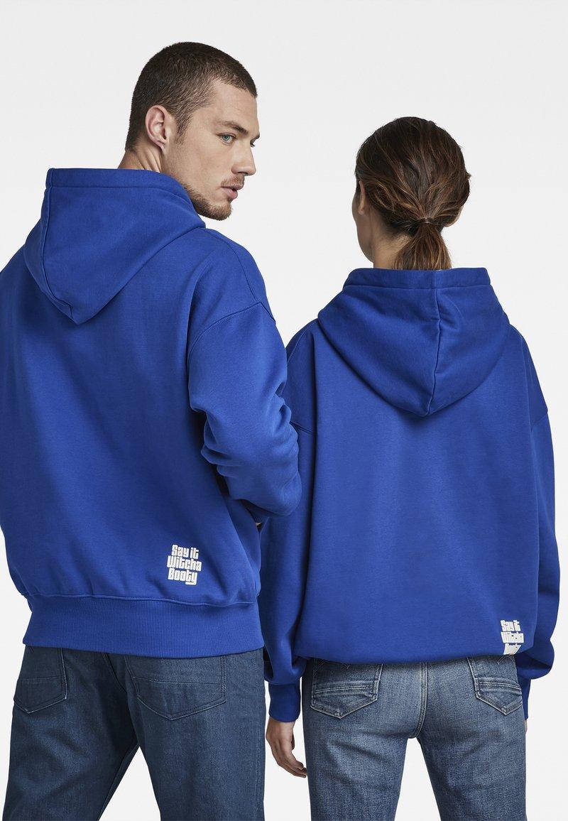 G-Star - UNISEX EMBRO HDD SW - Sweatshirt - bhashor sweat r -blue