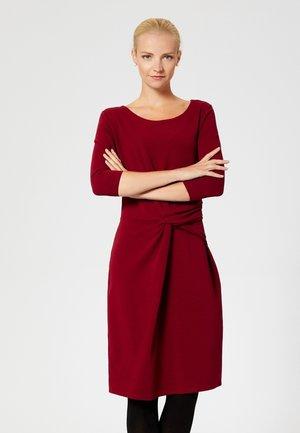 Žerzejové šaty - maroon