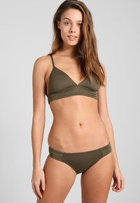 Seafolly - QUILTED HIPSTER - Bikini bottoms - dark olive - 1