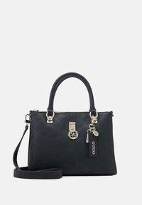 Guess - NINNETTE STATUS SATCHEL - Handbag - black - 0