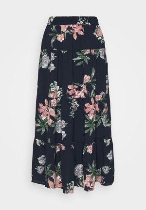 VMSAGA ANCLE SKIRT - Maxi skirt - navy blazer/sita