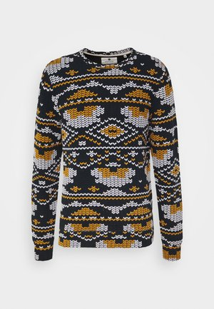 ARTHUR - Sweater - dark blue/yellow/white