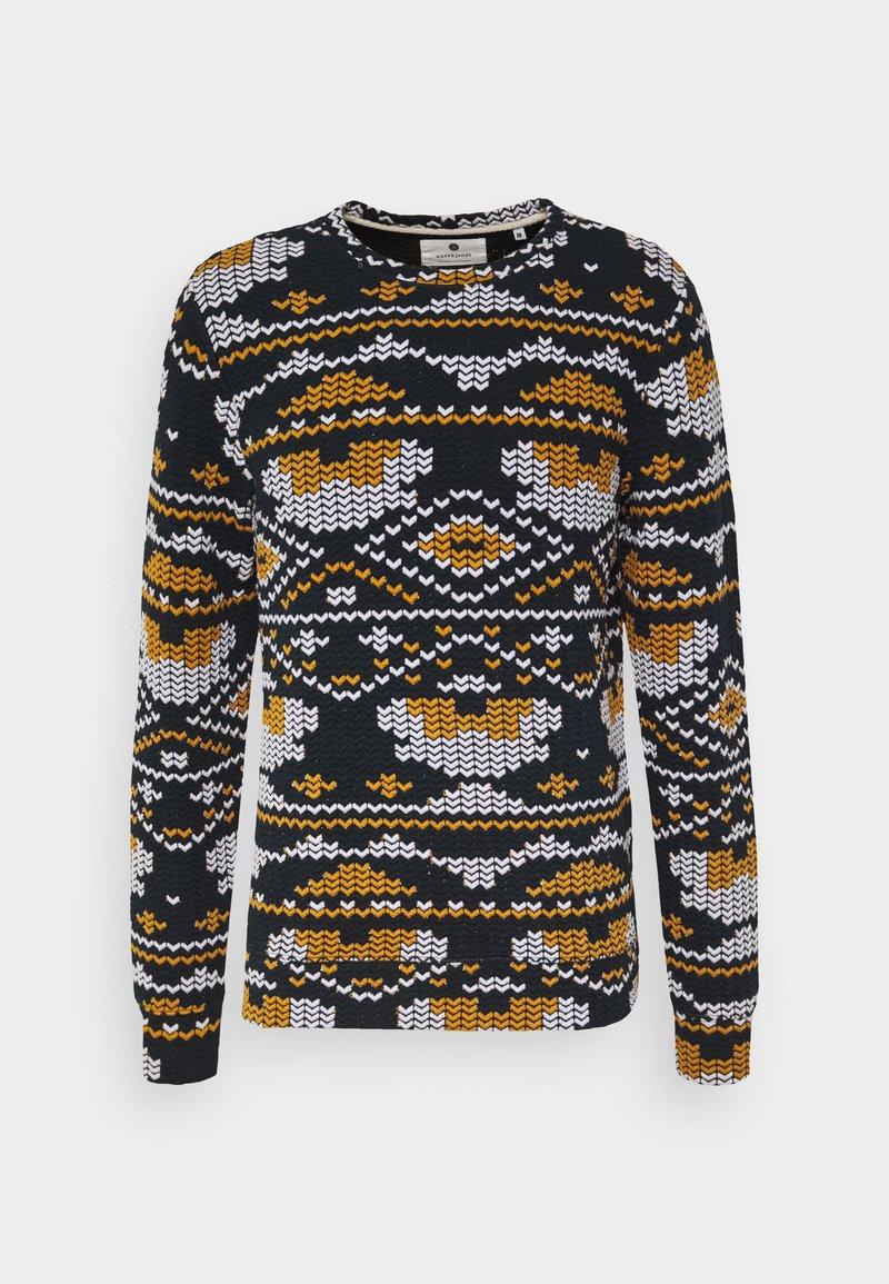 Anerkjendt - ARTHUR - Sweatshirts - dark blue/yellow/white