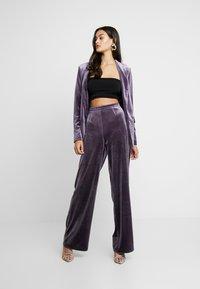 Missguided - LIGHT MAGIC TIE WAIST - Blazer - purple - 1