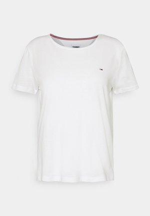 SLIM C NECK - Jednoduché triko - white