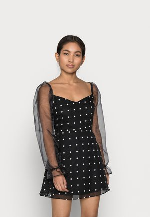 MIX SPOT DRESS - Day dress - black