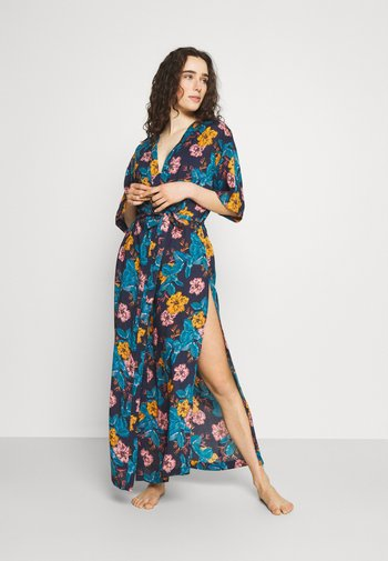 COVER UP - Beach accessory - blue /yellow