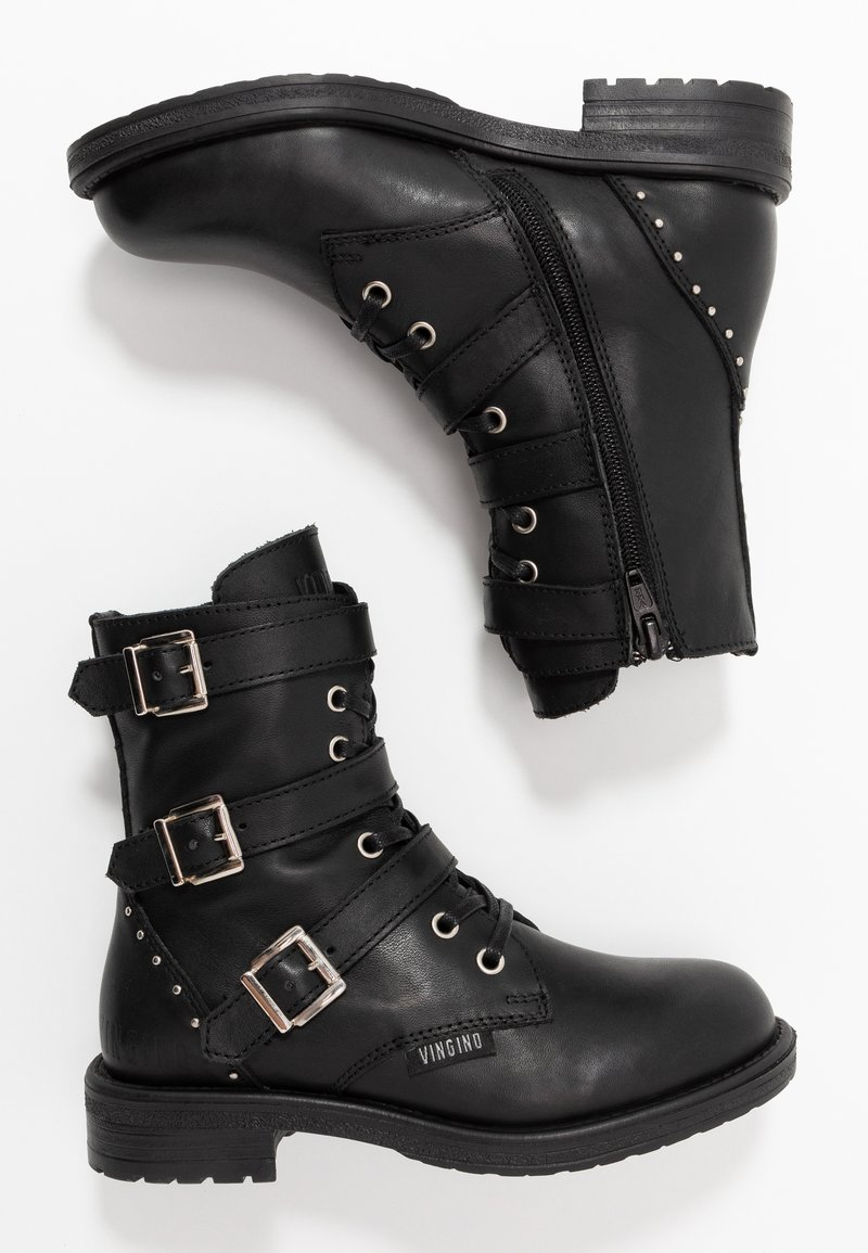 Vingino - MICHELE - Cowboy/biker ankle boot - black