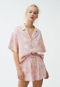 PULL&BEAR - Button-down blouse - pink - 0