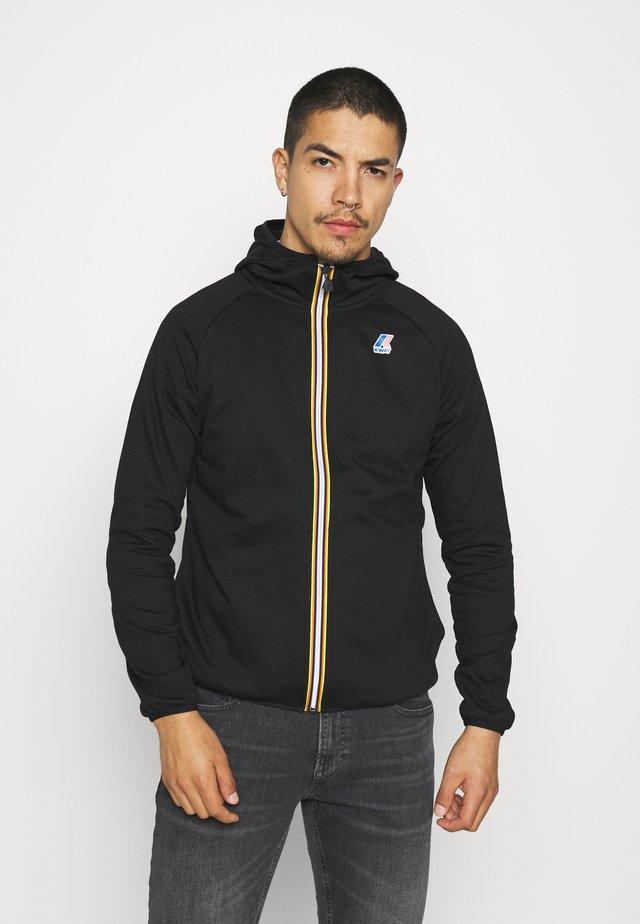 LE VRAI UNISEX - Zip-up hoodie - black