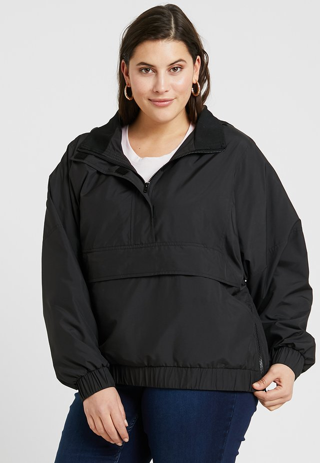 LADIES PANEL PULL OVER JACKET - Giacca outdoor - black