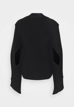 CURVED HEM JUMPER - Svetr - black