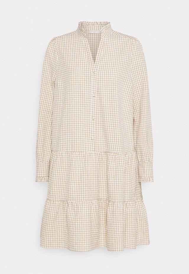 FQGINGHAM - Shirt dress - beige sand