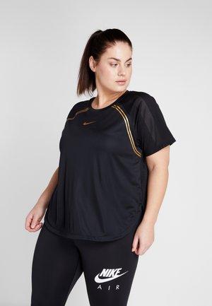 GLAM PLUS - Print T-shirt - black/metallic gold