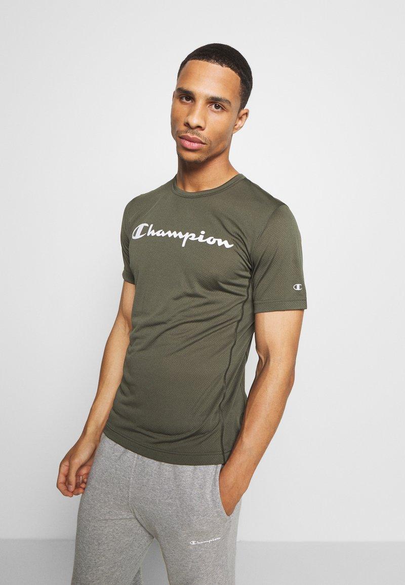 Champion - LEGACY TRAINING CREWNECK - T-shirt print - khaki