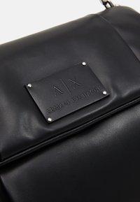 Armani Exchange - BIG FLAP SHOULDER - Handbag - nero - 3