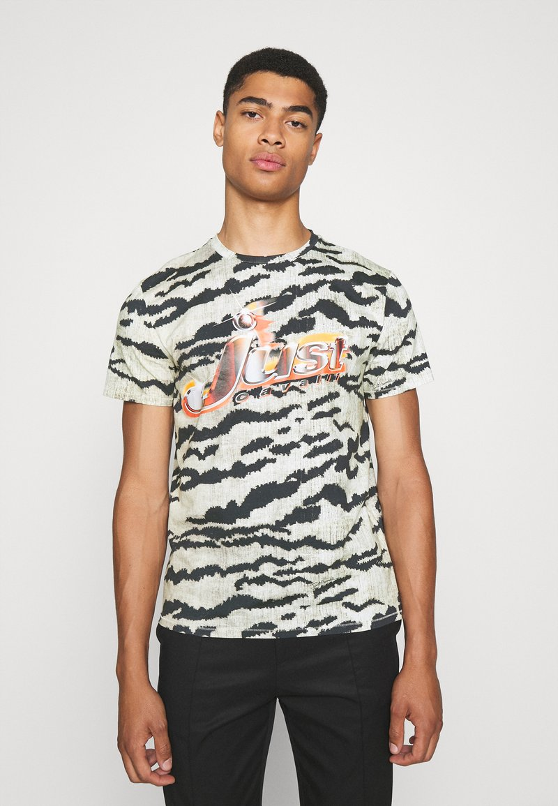 Just Cavalli - T-shirt con stampa - gray variant