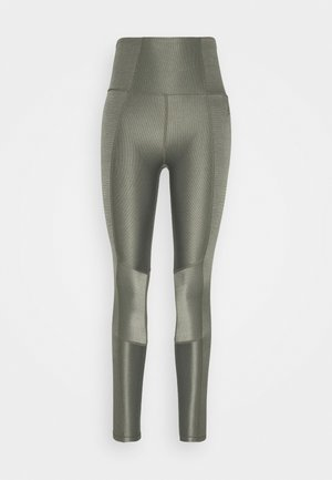 THE SHINY LEGGING - Tights - sage
