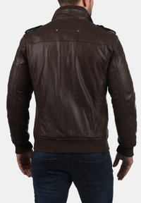 Solid - CAMASH - Leather jacket - brown - 1