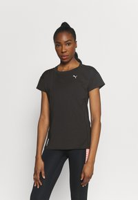 Puma - TRAIN FAVORITE TEE - T-shirt basique - black - 0