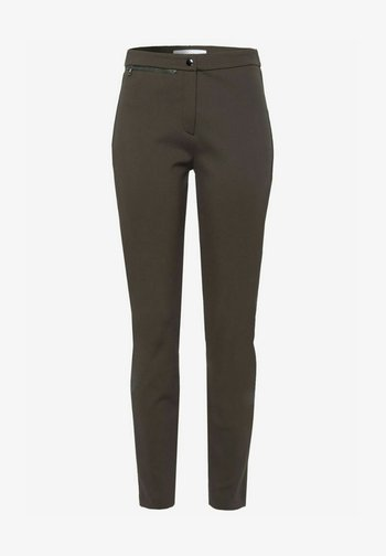 STYLE LOU - Trousers - dark olive