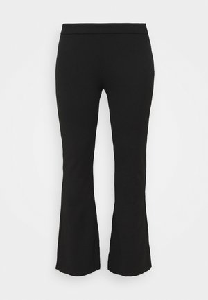 PCRIGGA FLARED PANT CURVE - Trousers - black