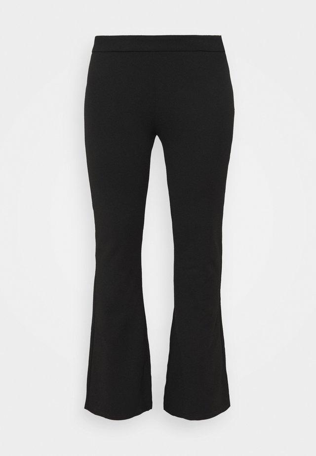 PCRIGGA FLARED PANT CURVE - Pantaloni - black