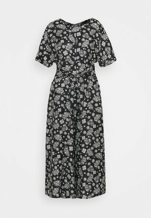 OVERALL FEMININE STYLE NECK WITH V IN BACK PRINTED - Combinaison - multi/midnight