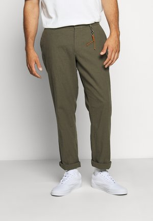 JJIMARCO JJLINEN AKM - Trousers - olive night