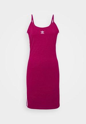 TANK DRESS - Pouzdrové šaty - power berry/white