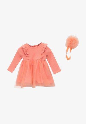 Jumper dress - coral