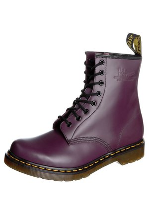 SMOOTH - Lace-up ankle boots - purple