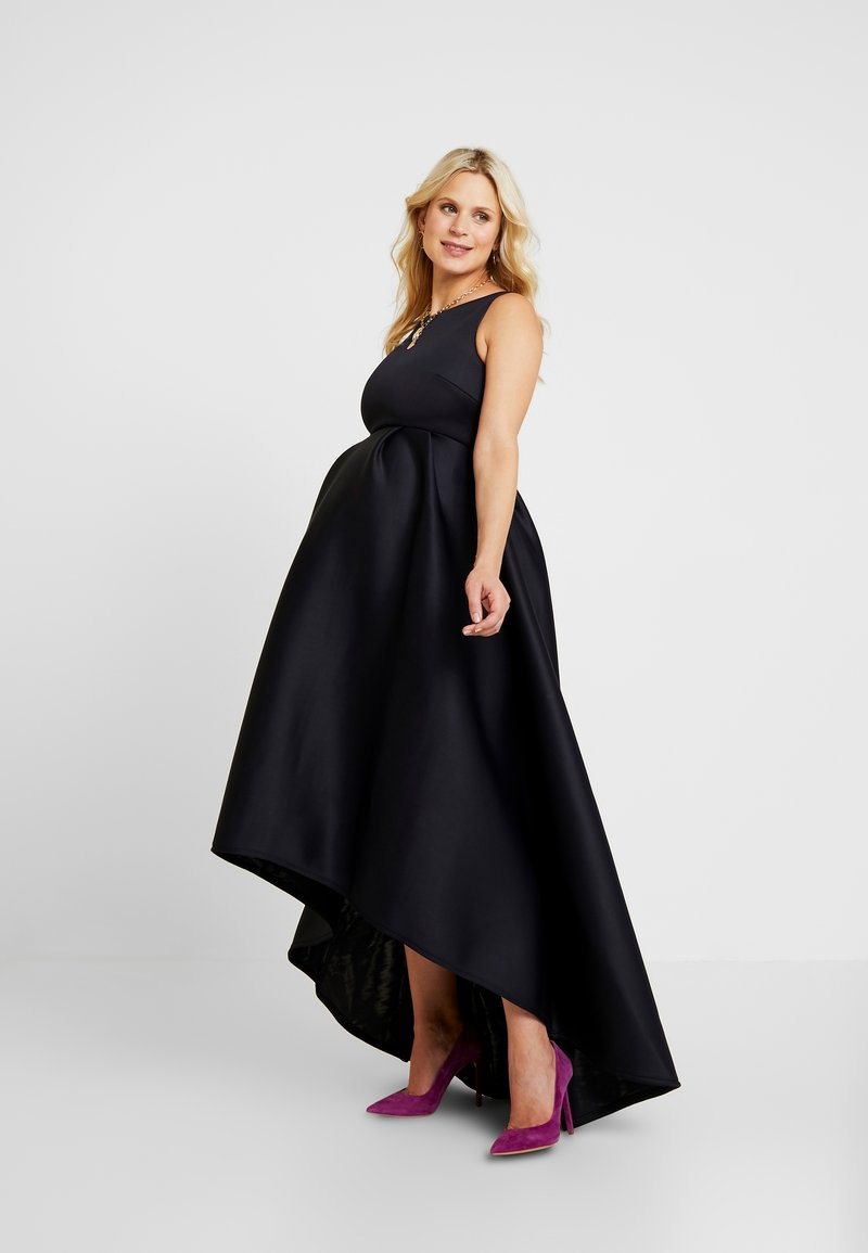 True Violet Maternity - HIGH LOW MAXI DRESS - Galajurk - navy