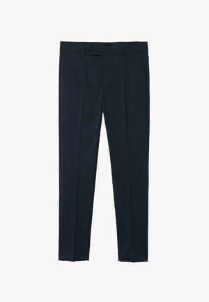 Suit trousers - marineblau