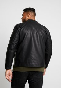 Only & Sons - ONSMIKE RACER JACKET  - Faux leather jacket - black - 2