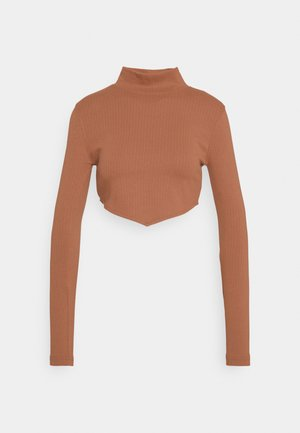 CREW NECK - Top sdlouhým rukávem - brown
