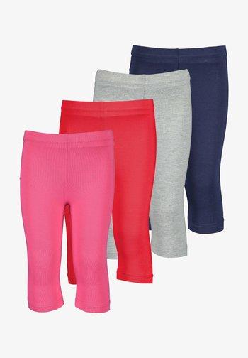 4 PACK - Leggings - Trousers - pink nebel nachtblau