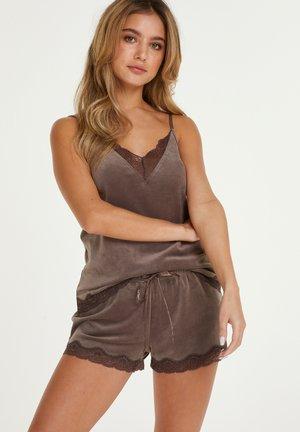 MIT SPITZE - Pyjama bottoms - brown